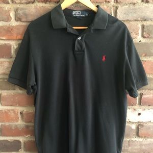 Men's Ralph Lauren Black Polo - Size Medium